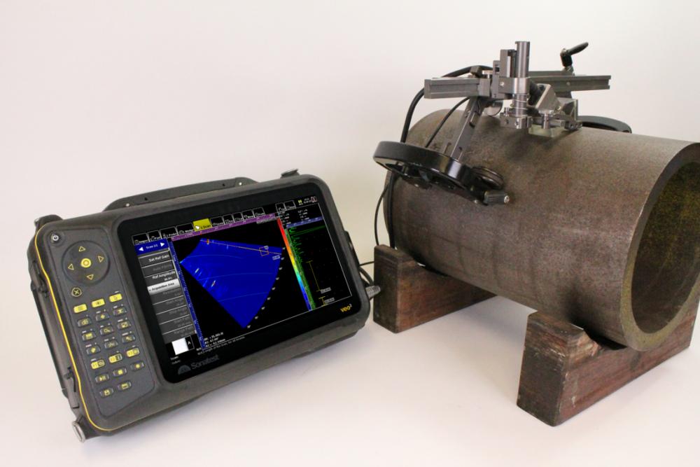 Hiệu chỉnh bề mặt cong (Curved Surface Correction-CSC) cho kiểm tra mối hàn dọc ống sử dụng Sonatest Veo3